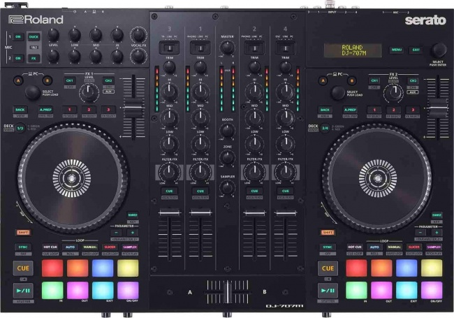 Roland DJ-707M Four-Channel, Four-Deck Serato DJ Controller