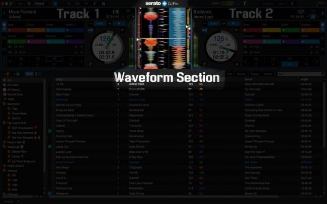 Serato DJ Waveform Section
