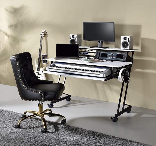 Acme Furniture Suitor Music Recording Studio Desk setup