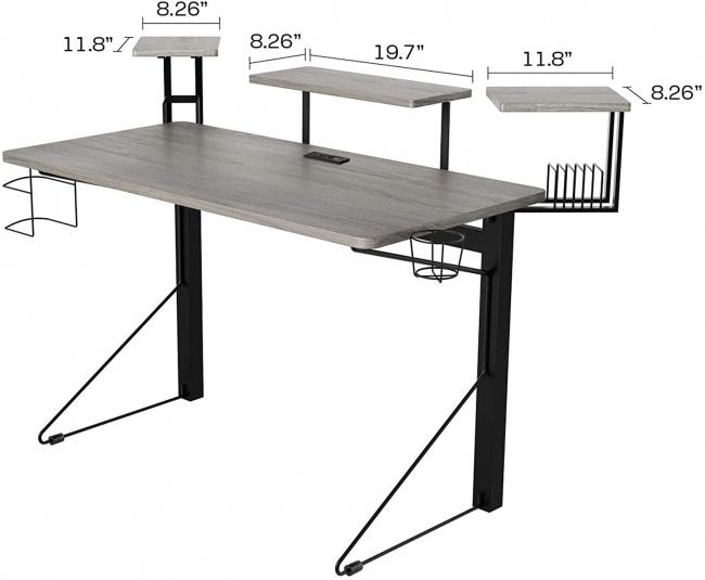 DAR CORE Computer Gaming Desk dimensions top
