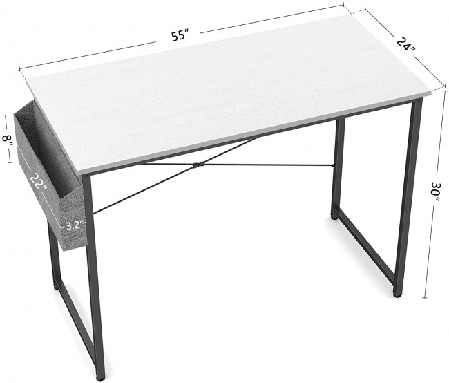 "Cubiker Computer Desk 47"" Home Office Writing Study Desk"
