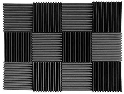 Convoluted Blue Charcoal 1 Inch x 12 W x12 L Acoustic Foam Panels Recording Studio Foam