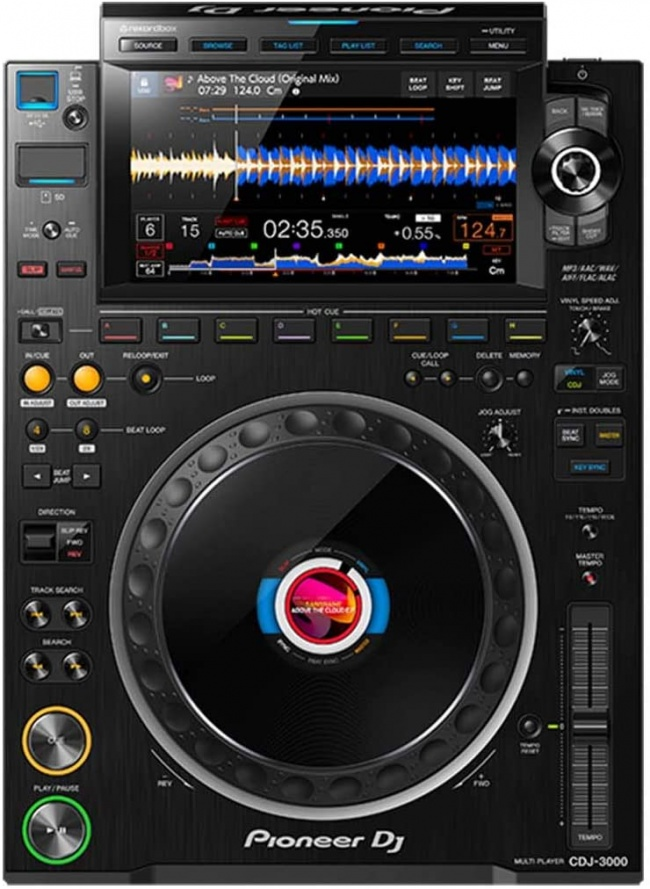 Pioneer CDJ-3000 Professional DJ Multi Player (Black) top view