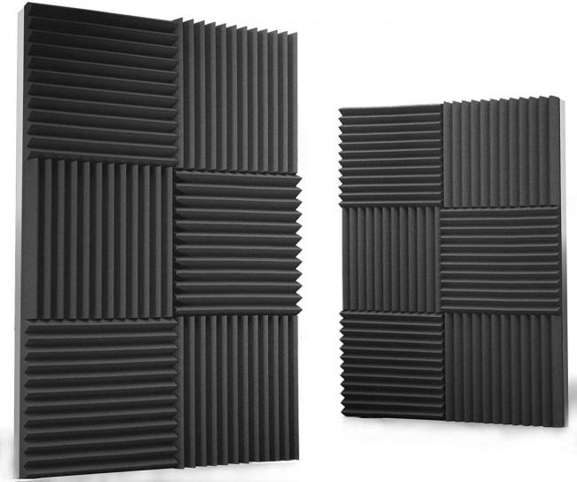Siless 12 pack Acoustic Panels 1 X 12 X 12 – Acoustic Foam - Studio Foam Wedges - High Density Panels – Soundproof Wedges