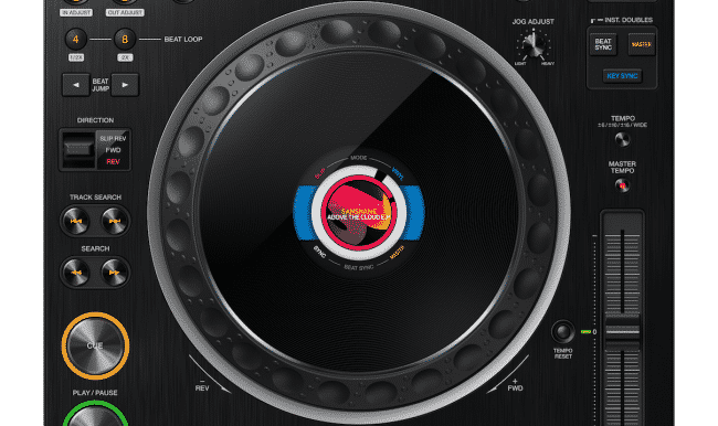 pioneer CDJ-3000 jog-wheel screen