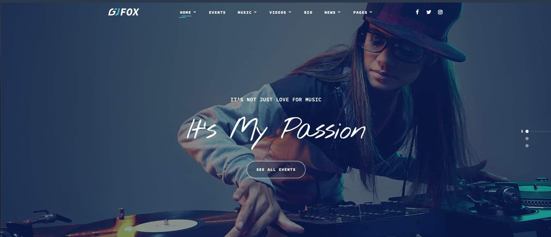 8 Best DJ Website Templates (HTML & WordPress)