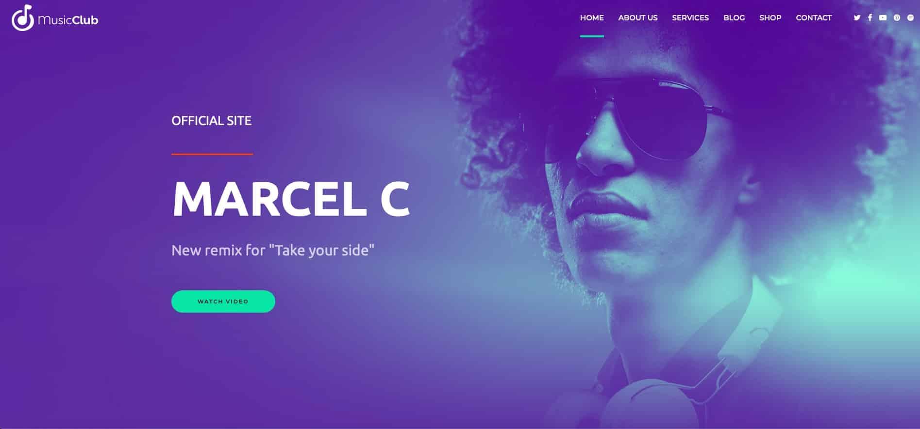 Music Club DJ WordPress Theme