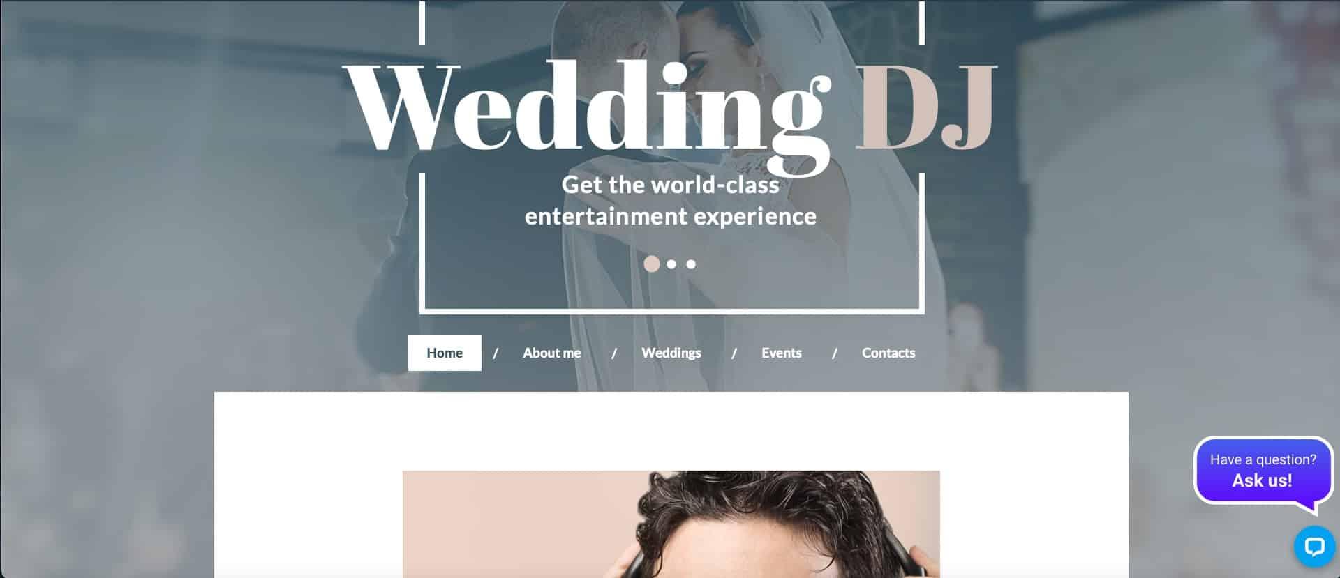 wedding DJ website template HTML